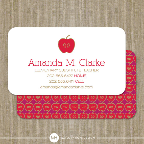 Lovely teacher business cards gallery idealstalist lovely teacher business cards gallery reheart Images