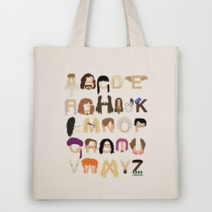harry potter abc tote